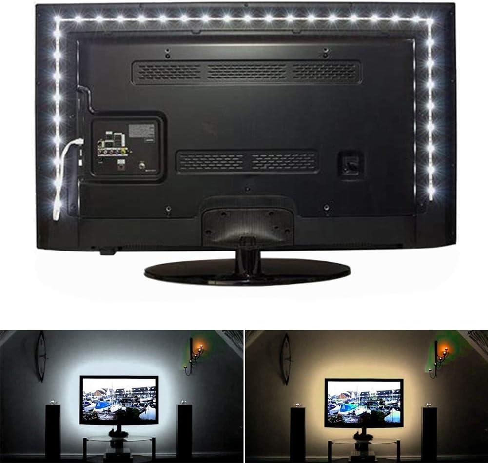 UKMASTER Tira LED para TV Tiras LED 5050 RGB Tiras LED USB 1M/2M ...