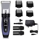 Hair Clippers Hair Trimmer Electric Haircut Kit Ceramic Blade Rechargeable Battery for Men Kids Adults For Elehot (Blue)
