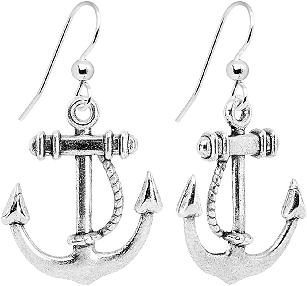 anchor love ear hook-anchor earrings Hamburger Bridal-earrings Anchor silver bride Hamburger Deern anchor hamburg