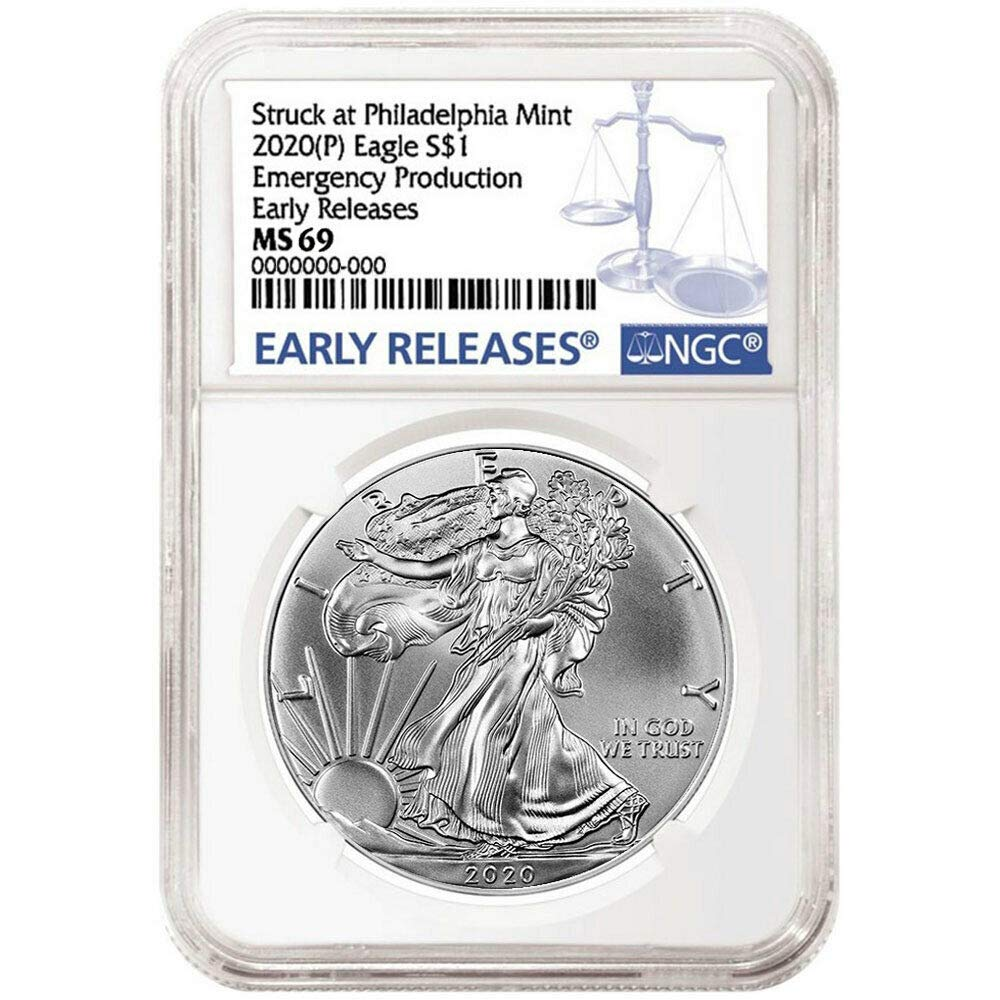 NGC MS69 2020 American Silver Eagle