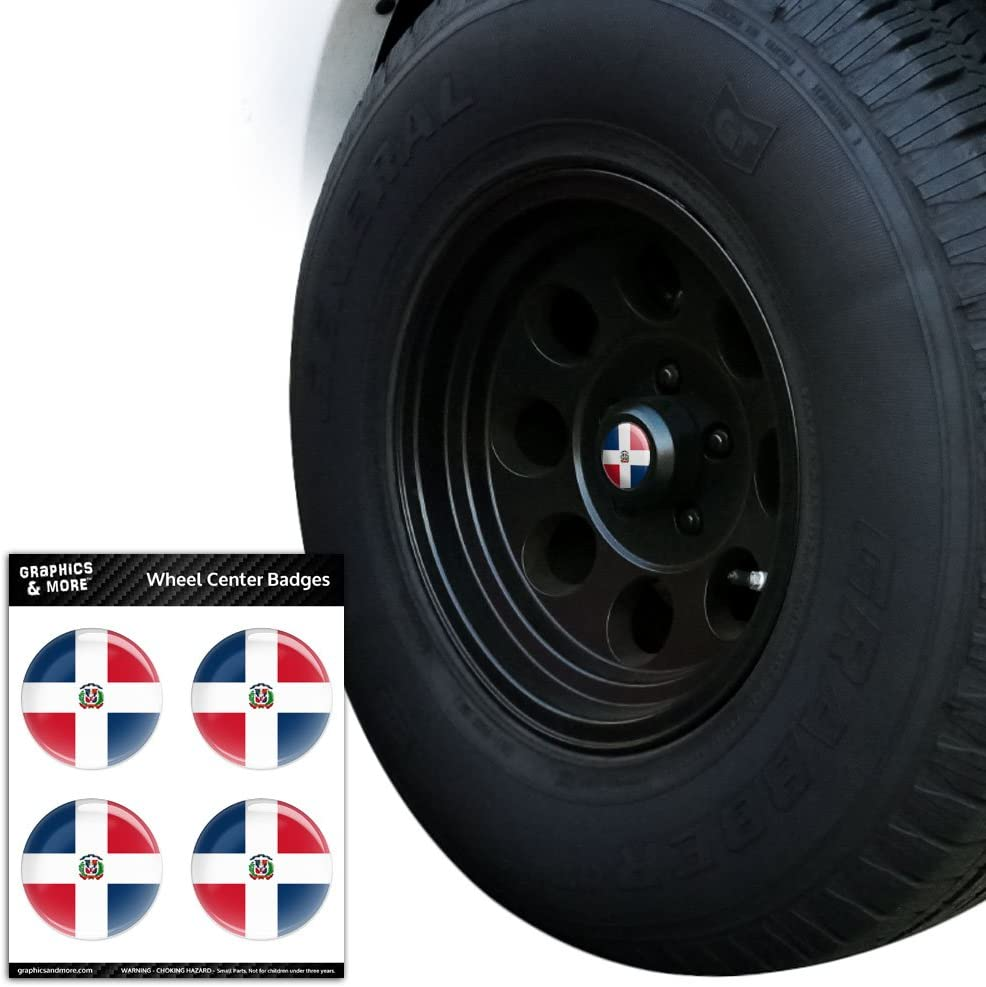 4 Pcs  STICKERS Wheel Center Hub 5.6CM Emblems Flag Badge Decal Sticker