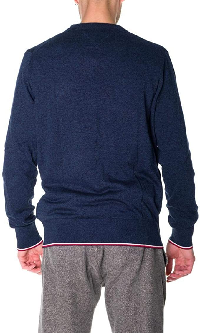 Tommy Hilfiger Jersey Tipped Mouline Crew Marino Hombre