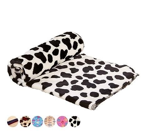 FishBabe Manta para cama de perro con diseño floral cálido para gatos, cachorros, forro
