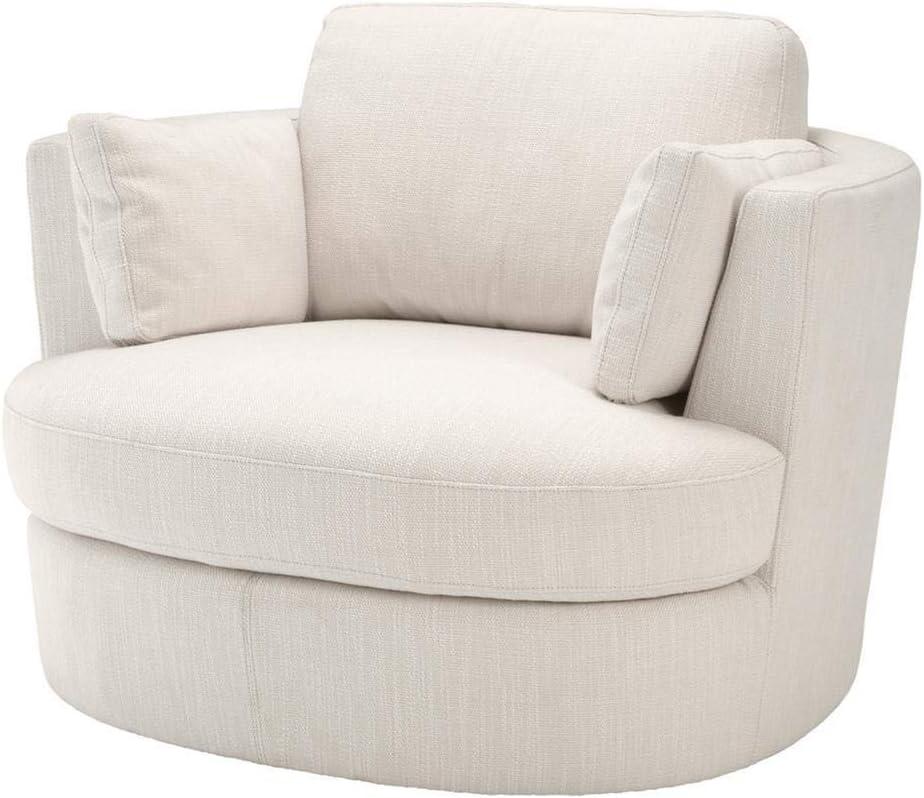 Amazon Com Beige Swivel Chair Eichholtz Clarissa White Swivel Base Living Room Accent Chair Loveseat Modern Luxury Furniture Kitchen Dining