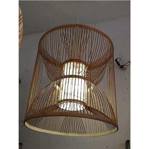 Araña de bambú lámpara de bambú india personalizada araña de ...