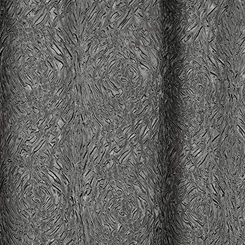 Exclusive Home Embossed Satin Rod Pocket Curtain Panel Pair, Black Pearl, 54×84