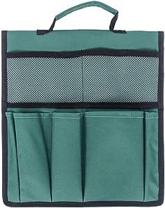 GREENWISH Garden Kneeler Tool Bags Foldable Portable Oxford Gardening Storage Organizer Tote Bag with Handle Pockets Waterproof Multifunction Gardening Hand Tool Storage Stool Pouch