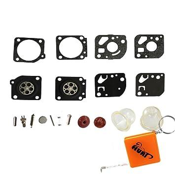 HURI Full Carburettor Carb Diaphragm Gasket Primer Bulb
