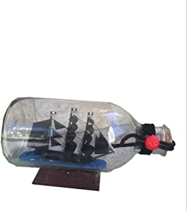 Drohneks Ship Model Wooden Sailing Handcrafted Home Decorative Nautical Wooden Pirate Ship Sailboat Boat Model Decor