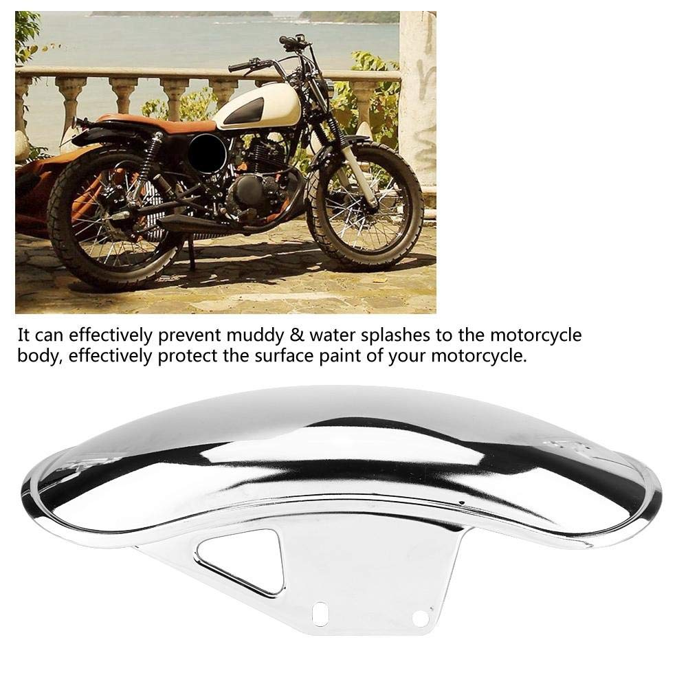 Motorcycle Front Fender Metal Mud Flap Guard Fairing Mudguard Cover for GN125 GN250 Black