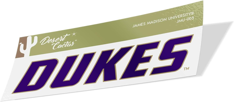 James Madison University JMU Dukes NCAA Vinyl Decal Laptop Water Bottle Car Scrapbook (Sticker - 003)