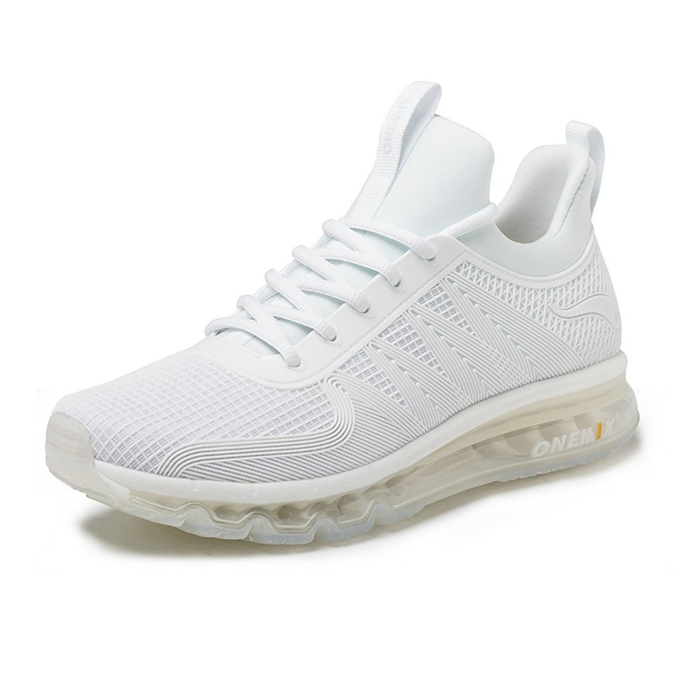 ONEMIX Men's Air Running Shoes One-Piece Damping Cushion Sneakers B07C2L1KVG 6.5 D(M)US 9.64 inch|White
