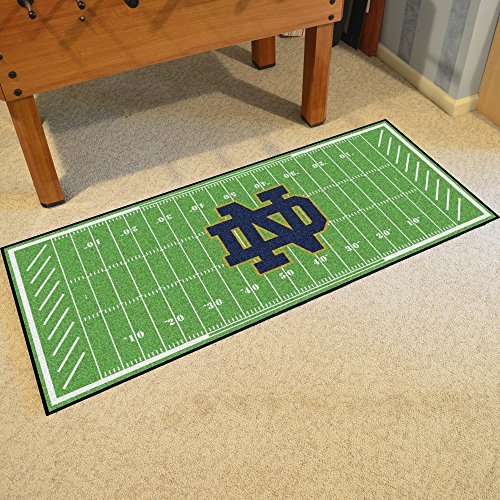 (Fanmats NCAA Notre Dame Fighting Irish Damefootball Field Runner, Team Color, One Size )