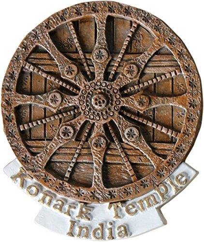 Konark Sun Temple Wheel Hand Made Polyresin Fridge Magnet