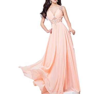 La_mia Braut Rosa Elegant Chiffon Perlen Abendkleider Ballkleider ...