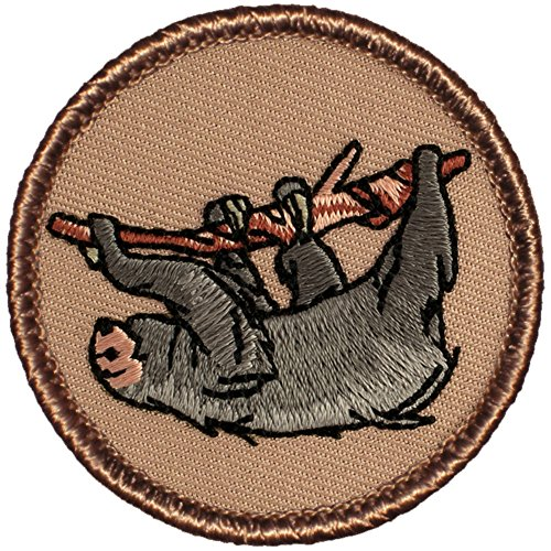 "UPC 767872637061, Sloth Patrol Patch - 2"" Diameter Round Embroidered Patch"