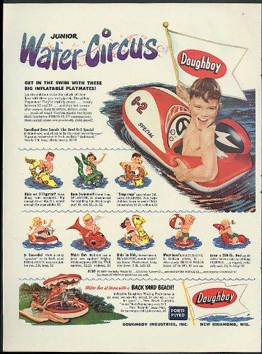 ドウボーイ ジュニア ウォーター サーカス インフレータブル トイ 広告 1952G-2 スピード ボート 膨らんだ クジラ++ノノクロオリジナルグッズ付き [並行輸入品]   B00ZASDIYC