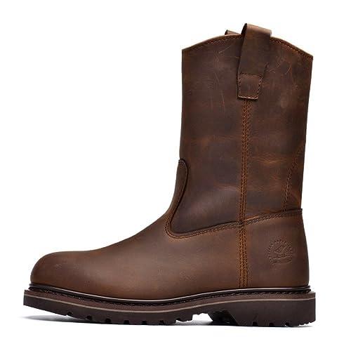 Hombres Zapatos Vestido Escalar Montañas Otoño Aire Libre Fondo Blando Botas Resbalón Encendido Negro-marrón