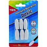 Ponteira Borracha, Tris, 7897476676401, Branco, pacote de 6
