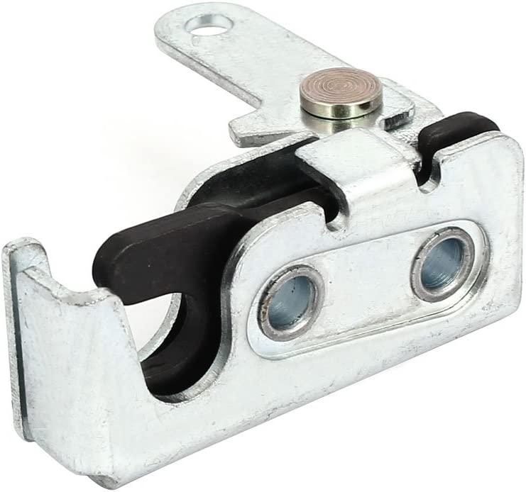 uxcell Door Panel Metal Concealed Rotary Latch Lock Left Hand Silver Tone