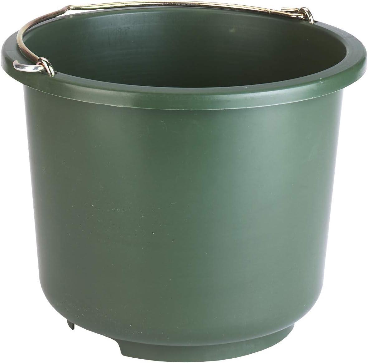 Kerbl - Cubo de Madera de PVC para Caballos (12 L), Color Verde