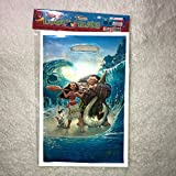 """Moana Maui Loot Goody Goodie Gift Bag, 6.5"""" x 10"""" Pearly Plastic, Partyware tableware Party Favor Bag for Pinata Candy Decorations Disney Movie -10 pcs"""