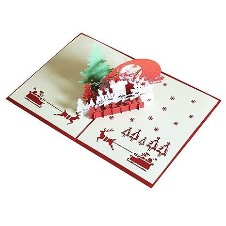 Fablcrew Pop Up 3D Tarjeta de Saludo de Navidad en Forma de ...