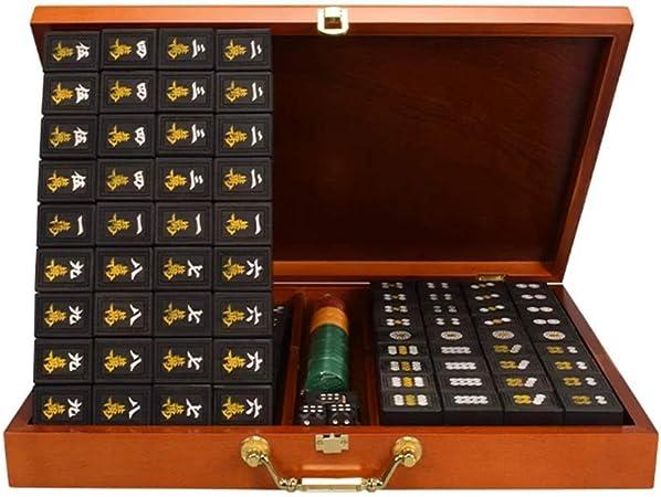SEESEE.U Mahjong Chino, Juego de Juego, Juego de Mesa para Frotar Las Manos, Mah Jong sólido para Entretenimiento, Fiesta, Colección, Regalo, 37.5x28x21.5 MM, 144 Piezas: Amazon.es: Hogar