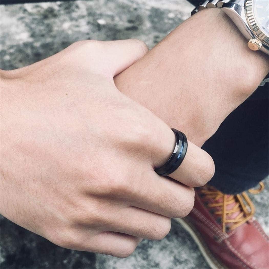 Stainless Steel Jewelry Blue Line on Matte Black JEWURA Couple Love Ring