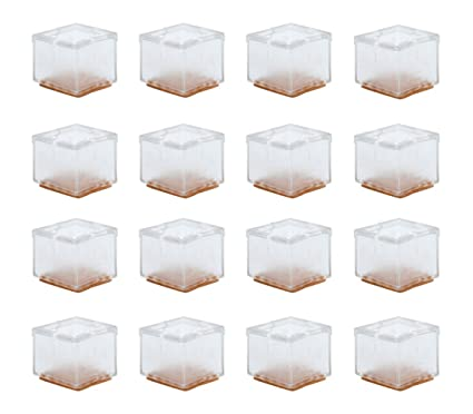 16 Pcs Silicone Chair Legs Cover, Table Feet Pads Square Furniture Legs  Floor Protectors 1