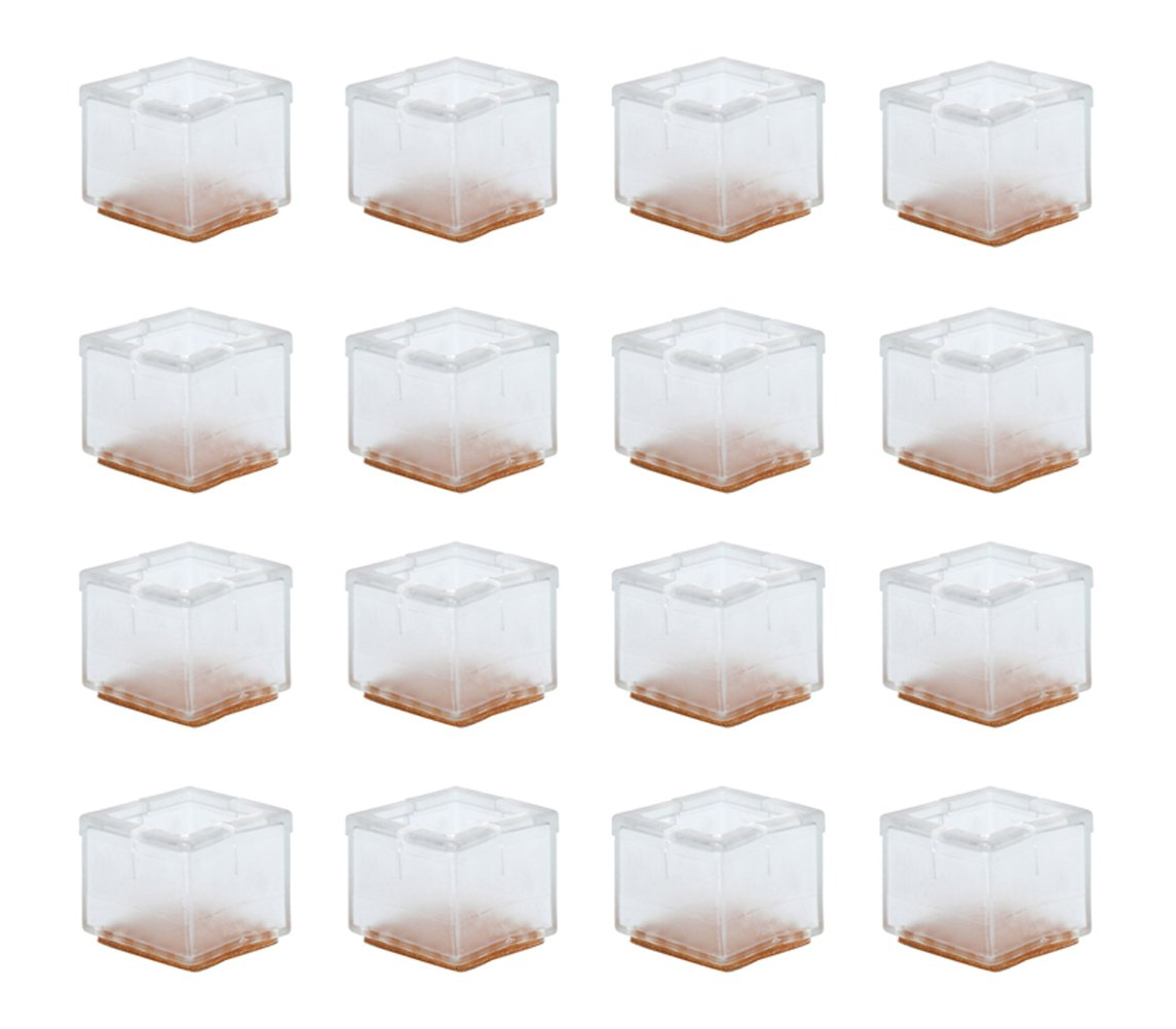 16 Pcs Silicone Chair Legs Cover, Table Feet Pads Square Furniture Legs Floor Protectors 1-1/4 to 1-3/8 inch (30-35mm) by HAPTIME