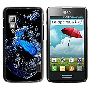 LECELL -- Funda protectora / Cubierta / Piel For LG Optimus L5 II Dual E455 E460 -- Abstract Water --