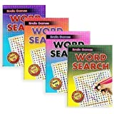 Set of 4 A5 Brain Games Large Print Word Search Books