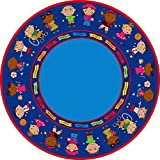 Kid Carpet FE82027A Friends Full Circle Round Nylon Area Rug, 6' , Multicolored