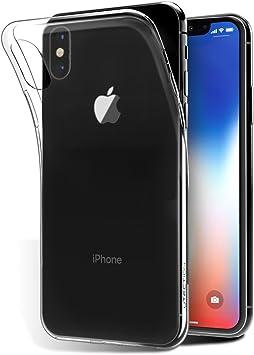 Funda Transparente de Silicona para iPhone X ** Carcasa Ultra ...