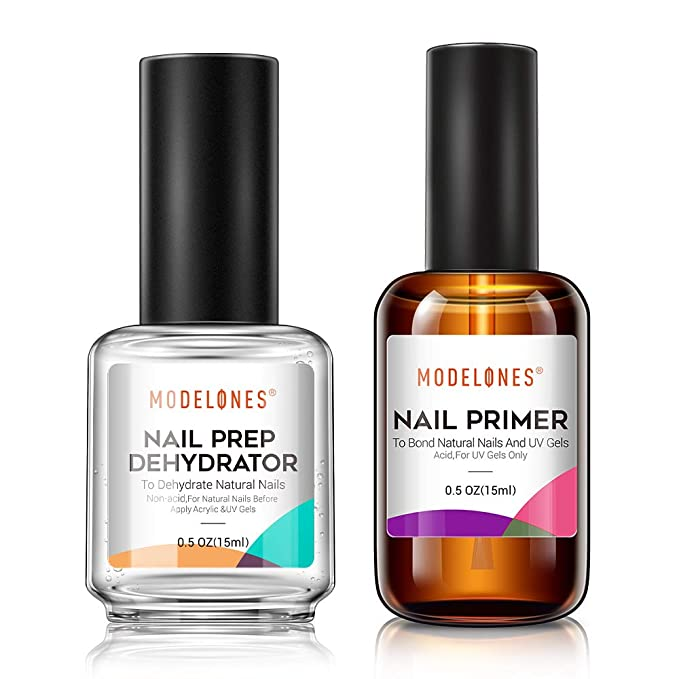 Modelones Nail Primer, Professional Natural Nail Prep Dehydrate & Bond Primer, Nail Protein Bond, Superior Bonding Primer for Acrylic Powder and Gel Nail Polish 15ml   Amazon