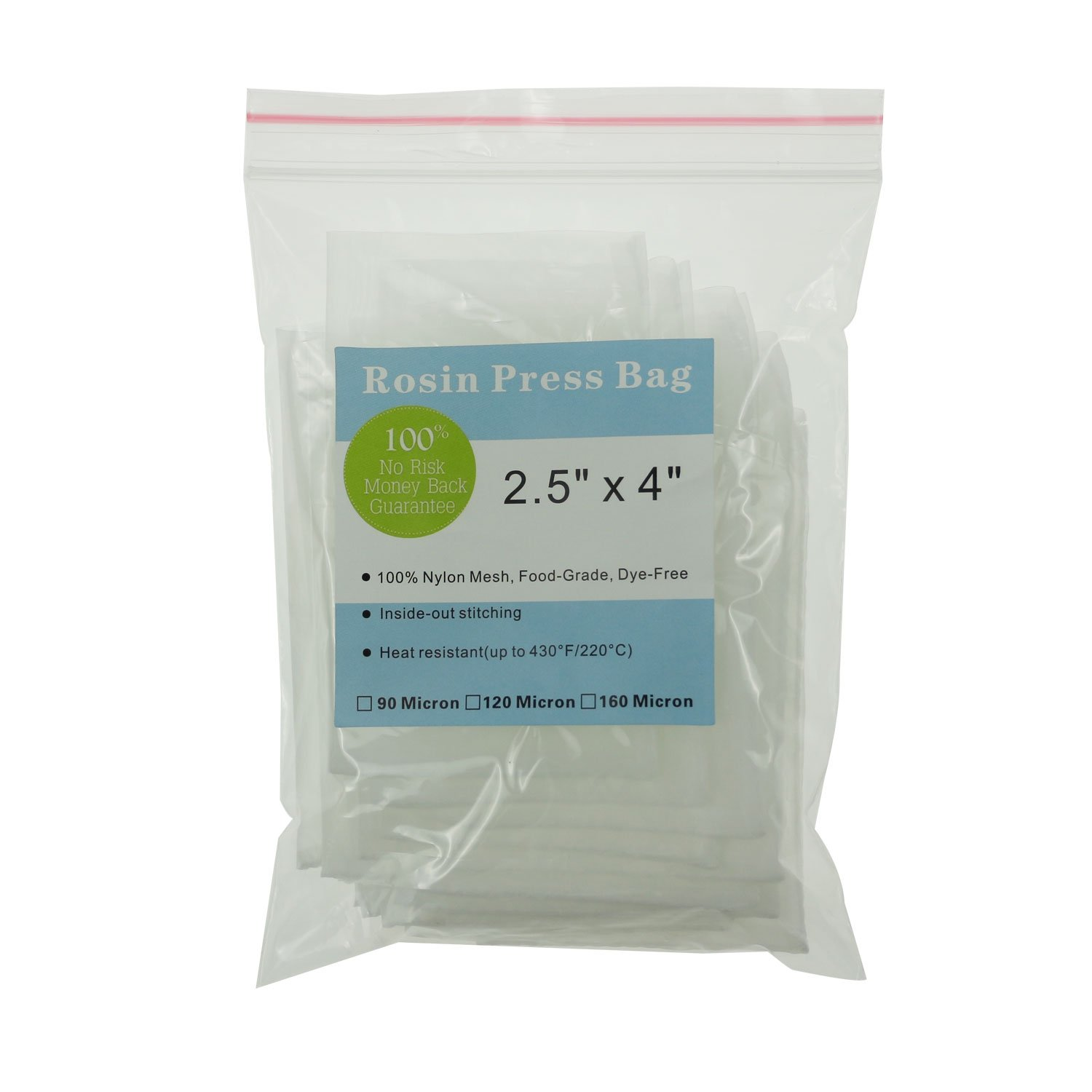 Rosin Press Bags, 90 Micron Rosin Bags, Rosin Filter Bag, Reusable Nylon Screen Press Bag Rosin Tea Bags-Extra Large 3''x 6'' (50 Pack) by WDHome