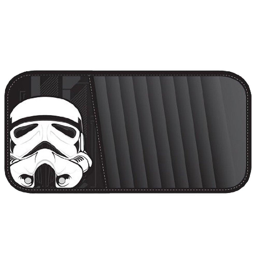 Storm Trooper Villain Character Head Mask Star Wars 10 CD/DVD Car Truck SUV Visor Organizer