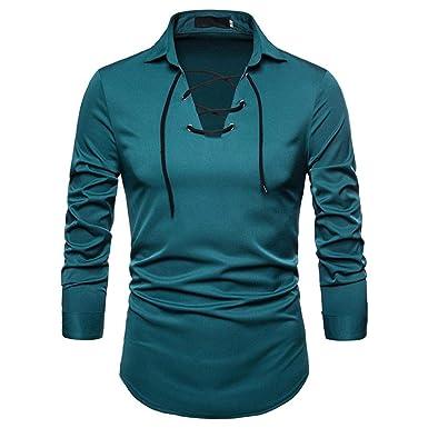 sale retailer 9f469 3077c ZIYOU Herren Hemd Einfarbig, Männer Elegante Langarm Button ...