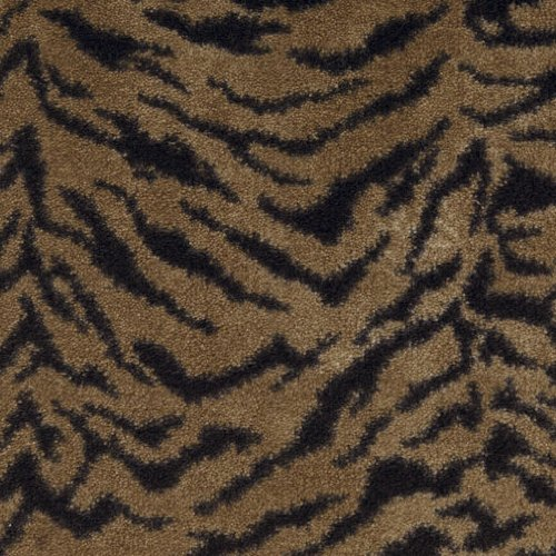 6'x9' Indoor Cut Pile Domo Tiger Print Area Rug for Home with Premium BOUND Polyester Edges. ()