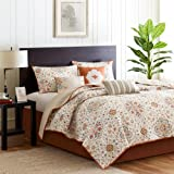Madison Park Tissa 6 Piece Quilted Coverlet Set, King, Ivory