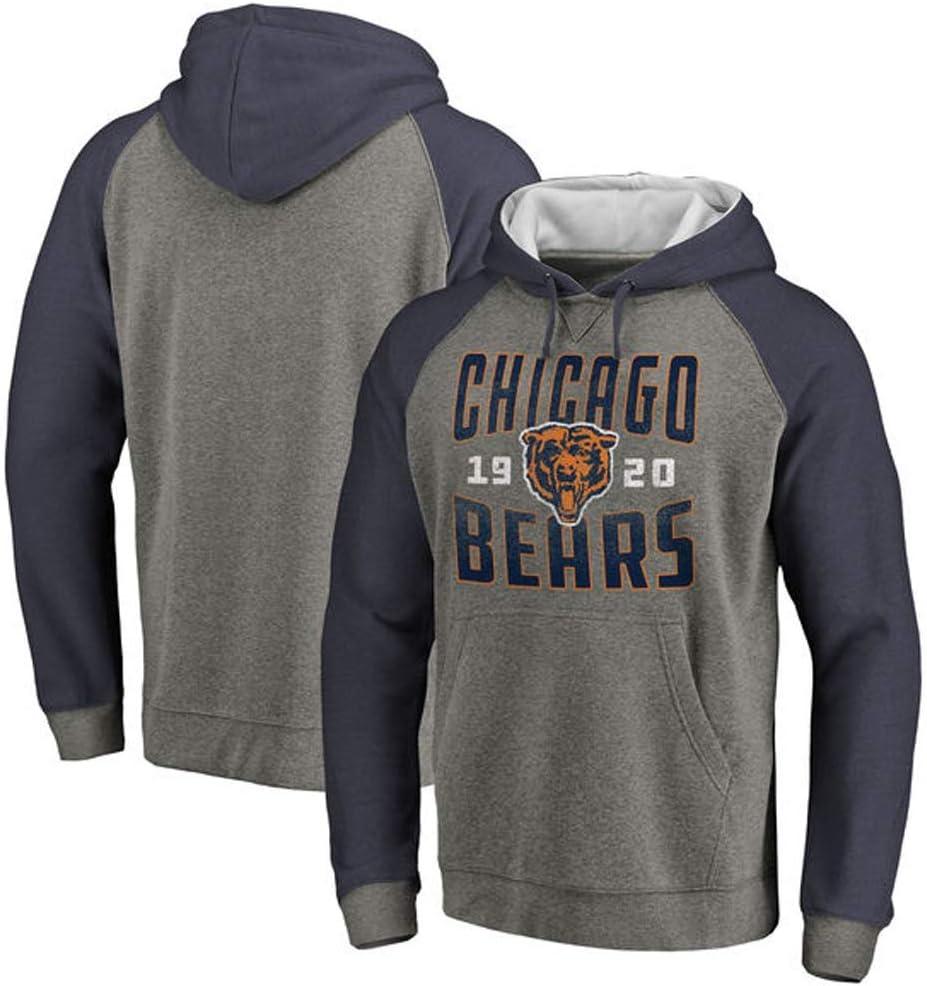 YUNMO Sudadera de Entrenamiento de Rugby de los Chicago Bears Sudadera Deportiva de Manga Larga Casual (Size : S): Amazon.es: Hogar