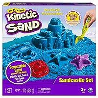 Arena cinética: juego de castillos de arena con 1 lb de arena, moldes y herramientas (los colores varían) 20073644
