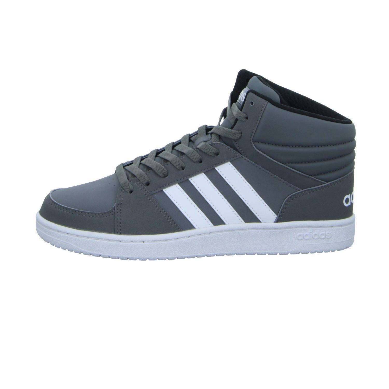 adidas Scarpe Uomo Sneakers Vs Hoops In Pelle Grigio B74285 fEoAOpQgM
