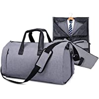 JoofEric Carry On Garment Bag for Travel & Business Carrier Luggage Cover Duffel Bag with Shoe Pouch (Gray)