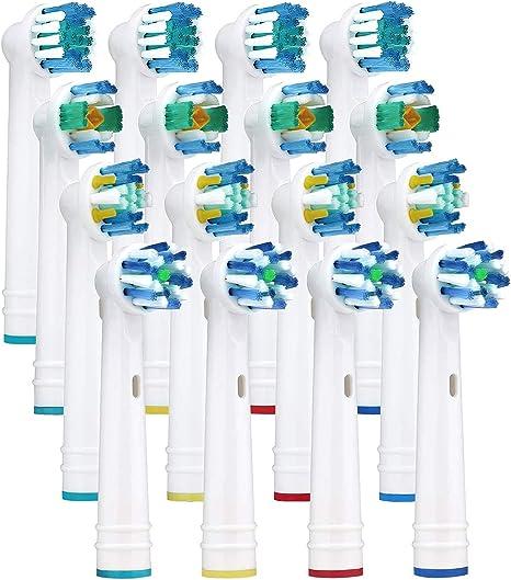 Yanaboo 16 cabezales de repuesto para cepillos de dientes ...