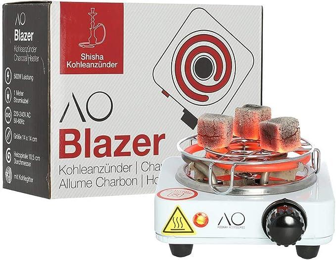 AO Blazer Hornillo Cachimba 500 W| Encendedor Eléctrico Narguile| con Rejilla Carbón: Amazon.es: Hogar