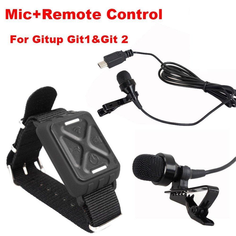 Riyc Accesorios y piezas para cámara Deportes Gitup Git2 Git1 con un llavero (Controlador+Micrófono): Amazon.es: Deportes y aire libre
