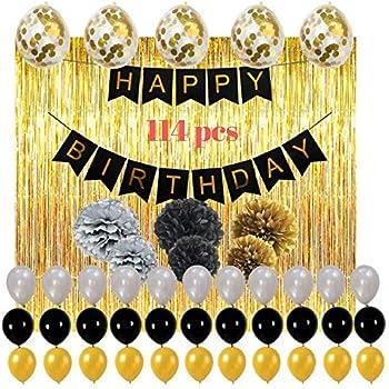 Amazoncom Happy Birthday Decorations Party Supplies Set 114pcs