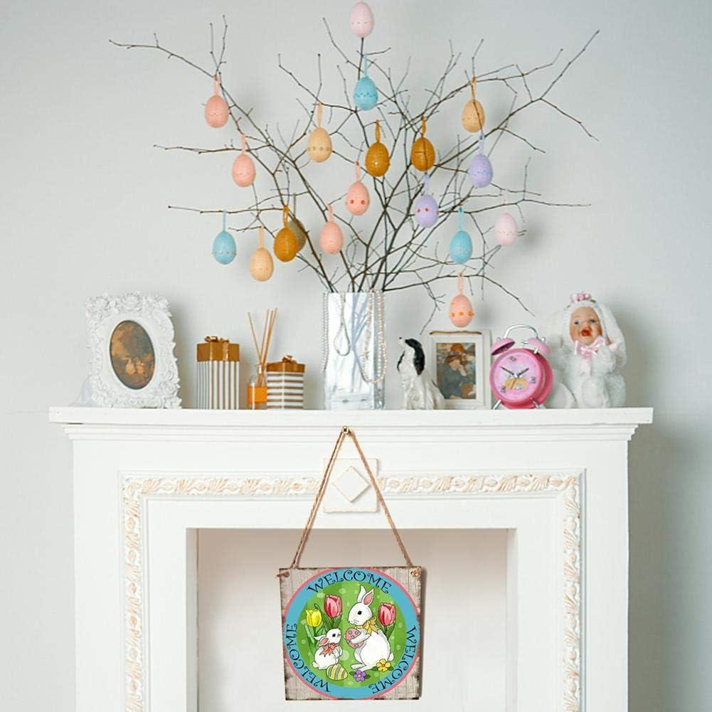 /Happy Easter/ /Personalizzato da Appendere alla Parete a Bordo Piatto per Pasqua casa Festa Decorazione A Starnearby Pasqua in Legno da Appendere alla Parete targhe e segni/